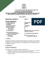 2015-1, Radiobiologia Prof. Julio Manosalva Plan 2003