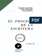 Barthes, R., Thibaudeau, J. y Kristeva, J. - El Proceso de La Escritura