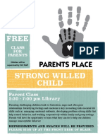 strong willed child parent class