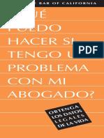 Problem Lawyer Spanish