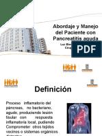 Abordaje y Manejo Del Paciente Con Pancreatitis Aguda