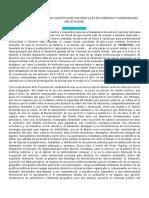 PROPUESTA DE CONSTRUCCION COLECTIVA DE UNA NUEVA LEY DE COMUNAS Y COMUNIDADES DEL ECUADOR