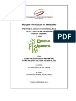 Constitucionalismo Ambiental-constitucion Politica De1979 y 1993 (Trabajo)