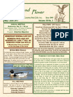 Upland Plover May-June 2017