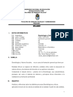 Silabo de Deontologia y Valores Sociales-PROCASE 2016
