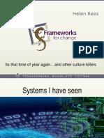 HR Conference 2015 - Frameworks for Change - Helen Rees
