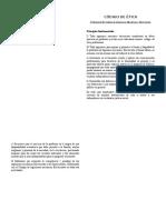 Codigo Etico de Ing Electricos y Mecanicos