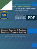 Ejercicios Resueltos de Teoría de Decisiones y Programación