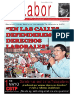LABOR N° 8 - Mayo 2017 - Periódico Oficial de la Confederación General de Trabajadores del Perú -CGTP