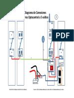 Diagrama de Conexiones de Barras Optocontrol 5 Voltios