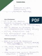self analysis of teaching performance
