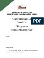 Modelos de Proyectos Comunitarios Para El Cambio Social