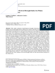 A Water Balance Derived Drought Index for Pinios River Basin