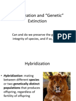 29. Hybridization and Genetic Extinction 1