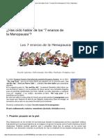 """¿Has Oído Hablar de Los """"7 Enanos de La Menopausia""""_ _ Dra"""