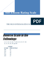 Test 1 Self Esteem Rating Scale
