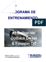 Manual de Entrenamiento Outback Diesel & Forester DIT