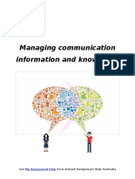 Sample on Communication Management