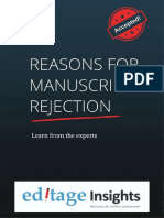 Reasons for Manuscript Rejection
