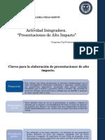 Presentaciones de Alto Impacto.