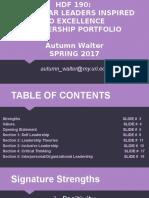 leadership mini portfolio