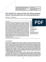 Tool Selection for Rough and Finish CNC Milling Operations Based on Tool-path Generation and Machining Optimisation