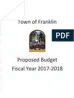 Proposed 2017 2018 Budget Town of Franklin