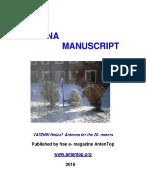 Antenna_Manuscript_v 01 pdf | Antenna (Radio) | Resistor