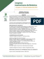 Primera Circular del XII Congreso Latinoamericano de Botánica