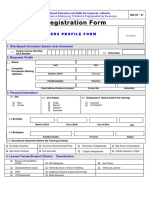 Registration Form MIS 03 01 Trainees Profile Form