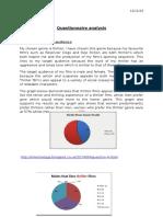 questionnaire analysis help sheet
