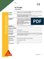 Ficha de Produto - Sika - Sikament P 190