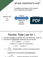 L2 Mass Balances in Reactors