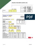 Bit & Pressure Loss Calculations