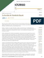 Kayser, F. (2017) La lección de Frederich Hayek.pdf