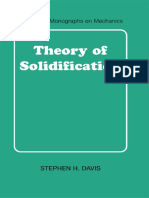 Theory of Solidification