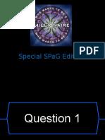 spag millionaire quiz
