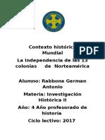 Contexto Histórico Mundial