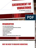 Measurement of vibrations