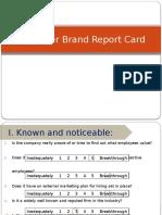 Employer Brand Report Card