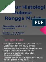 Histologi Mukosa Rongga Mulut