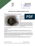 Mezzanine Floors Building Regulations Part K