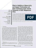 Effect of Addition of Nano-Al2O3 and Copper Particulates and Heat Treatment on the Tensile Response of AZ61 Magnesium Alloy