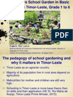 Ego Lemos - Permaculture School Gardens in Basic Education in Timor-Leste, Grades 1 - 6