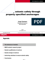 Ensuring Seismic Safety Trough Properly Specified Anchoring