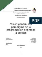 Visión General Del Paradigma de La Programación Orientada a Objetos