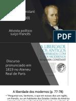 B. Constant - Liberdade Dos Antigos vs a Dos Modernos