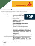 Tejido Fibra Carbono Reforzamiento Estructural Sikawrap 301 c
