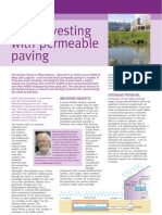 rain harvesting with permeable paving