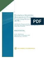 Gensby Workplace Disabiltiy Protocol